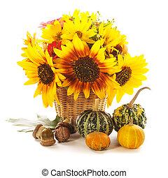 presentes, de, outono