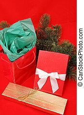 presentes, natal, vermelho