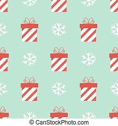 presentes, patrón, navidad, seamless