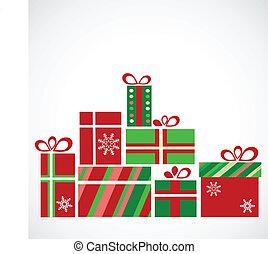 presentes, pila, navidad