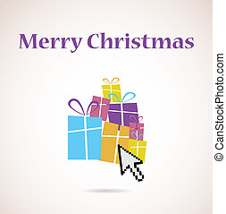 presentes, pilha, árvore, natal