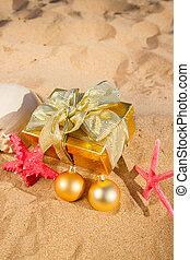 presentes, praia, natal
