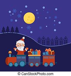presentes, trem, natal