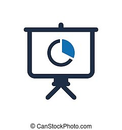 Presenting Business Report Icon
