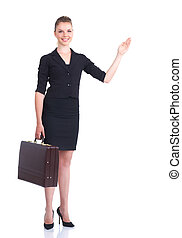 presenting business woman