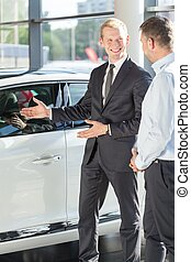 Presenting new car