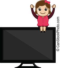 Presenting TV - Vector Illustration