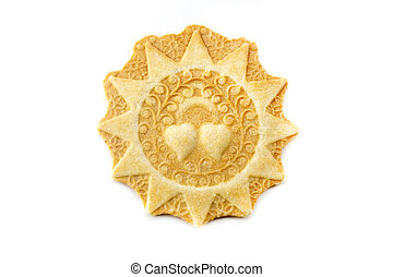 Presentosa shaped pizzella - Pizzella, a typical cookie from...