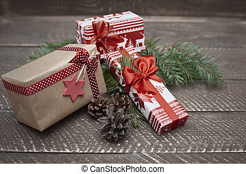 Presents are waiting for the Christmas time