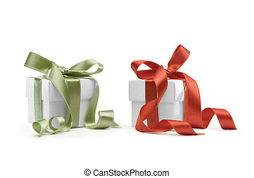 presents boxes - present boxes on white background