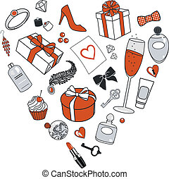 presents-for-women-in-heart-shape