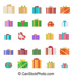 Presents Illustration Set. Holiday Collection