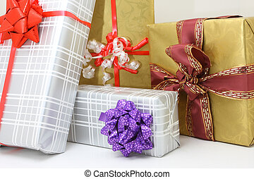 presents on white