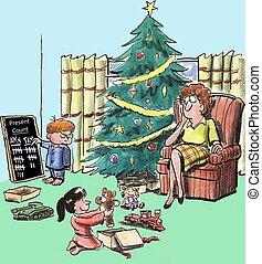 Presents - Present count between siblings