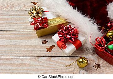 Presents Santa Hat Bells