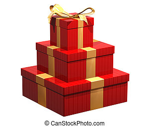 Presents - Isolated illustration gift wrapped presents