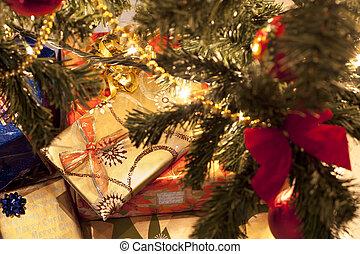 Presents Under Christmas Tree