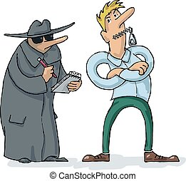 Preservation of Confidentiality - Man protects confidential...