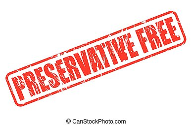 PRESERVATIVE FREE red stamp text