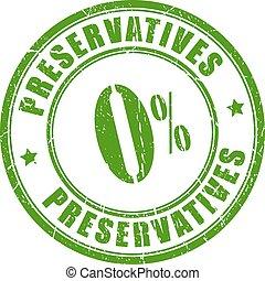 preservatives, gumi, nem, bélyeg