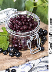Preserved Black Currants - Portion of preserved Black...