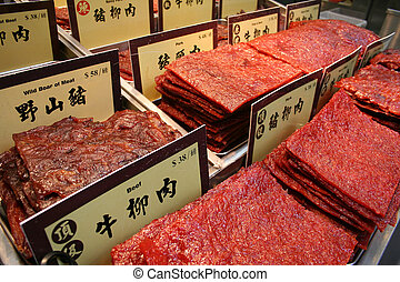Preserved Meat - Assortment of Chinese preserved meat...