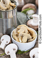 Preserved Mushrooms - Portion of preserved Mushrooms (macro...
