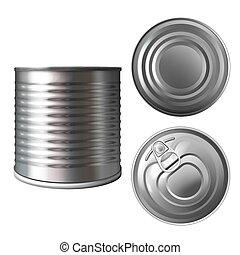 Preserves metal can or tin 3D vector illustration - Metal...