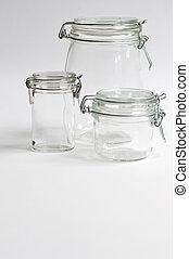 Preserving Jars - Three Glass Preserving Jars