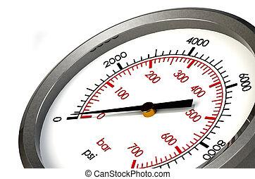 presión, cero, psi, calibrador