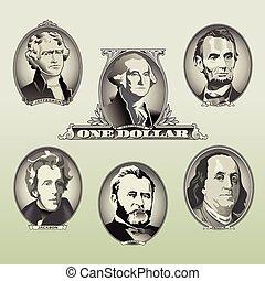 presidencial, oval, conta, elementos