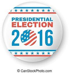 presidencial, vetorial, emblema, eleição, 2016.