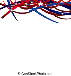 President Day Background - White, red, and blue colors -...