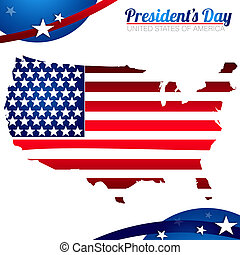 President Day background with red, white and blue colors