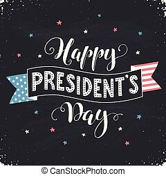 president day card - Happy Presidents Day text with american...