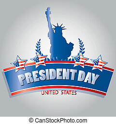 president day - four colored stars with the american flag...