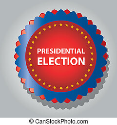 president day - a colored icon with some text and yellow...