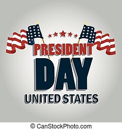 president day - a pair of american flags with some text and...