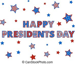 president day - Happy Presidents Day Greetings isolated on...