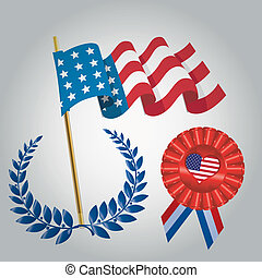 president day - some colored icons for president day in...
