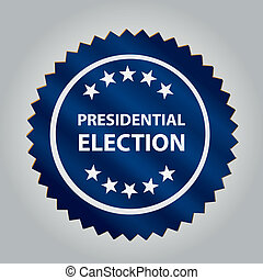 president day - a blue round icon with some white text and...