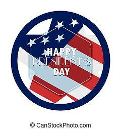President day illustration - Isolated president day sticker...