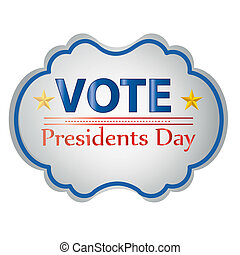 president day - a colored icon with some text and stars for...