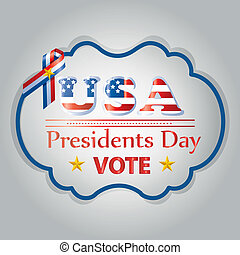 president day - a colored icon with some text for president...