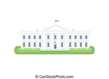 white house illustration white house washington dc modern flat rh canstockphoto com