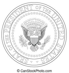 President Seal - A depiction of the seal of the president of...
