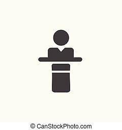 presidente, icon., fala, orador, porta-voz