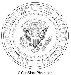 presidente, sello