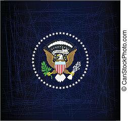 presidente, selo, águia