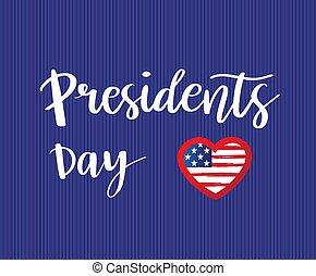presidenter, vektor, dag, kort